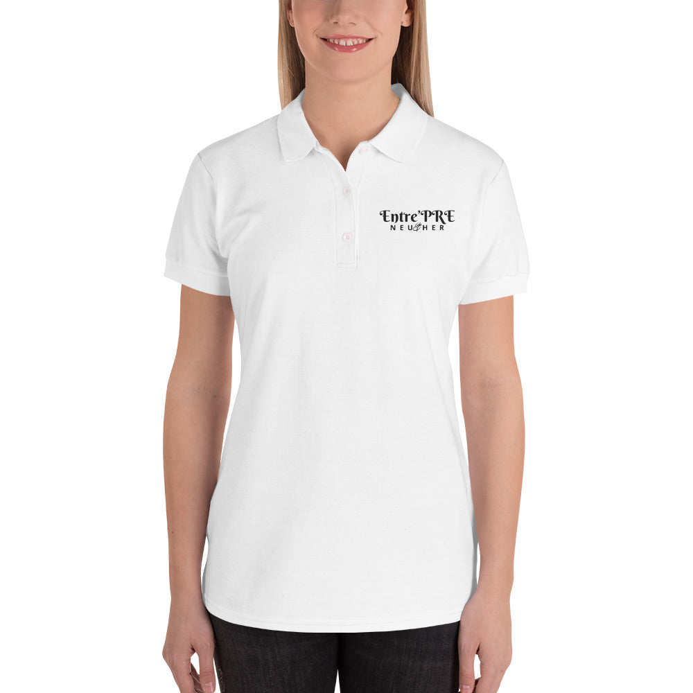 Entre'PRE NEU HER Embroidered Women's Polo Shirt