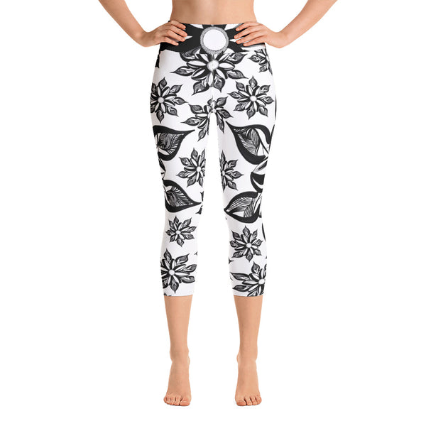 Mendhi Art Inspired- Yoga Capri Leggings