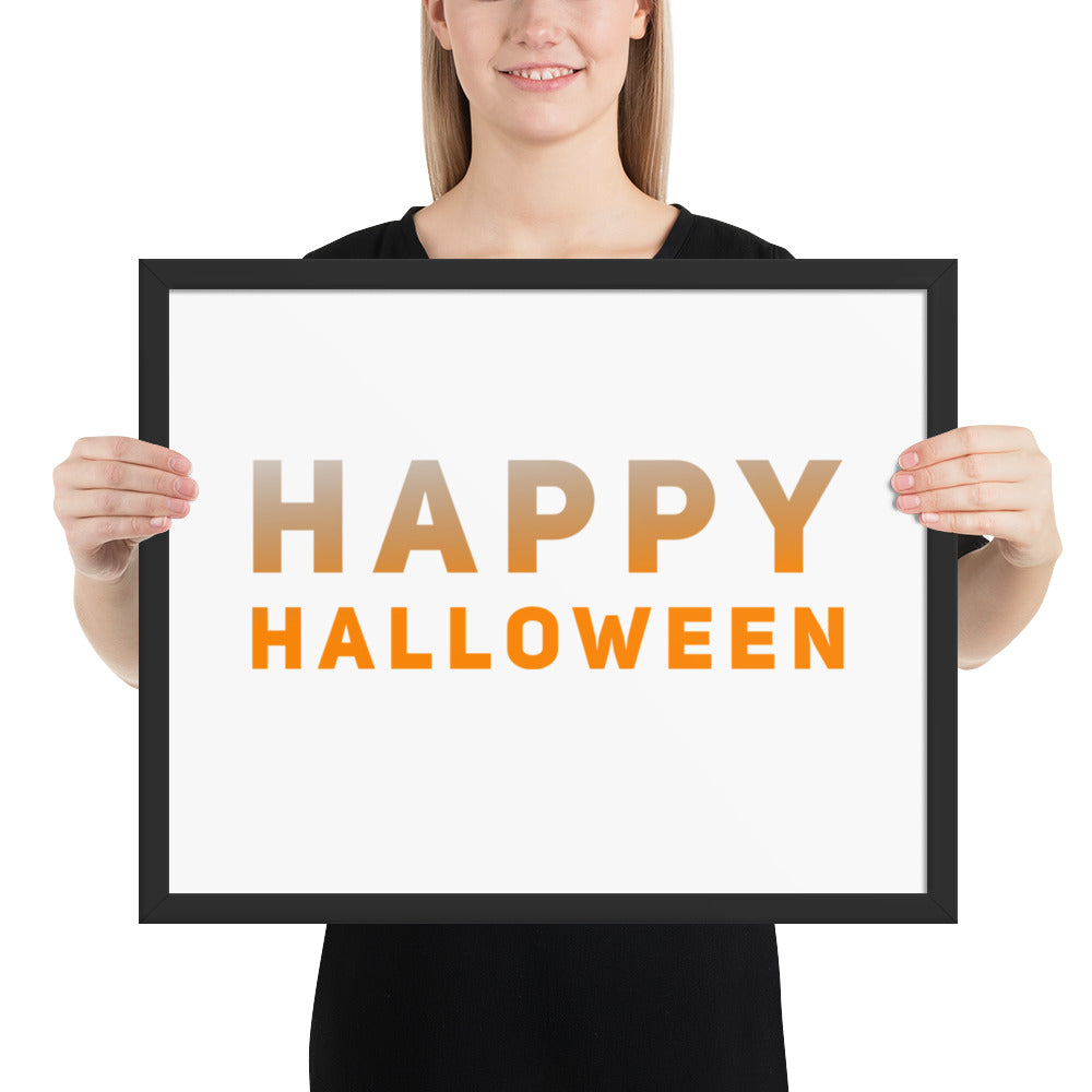 Happy Halloween Framed photo paper poster