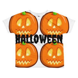 HallOween Pumpkin All-over kids sublimation T-shirt