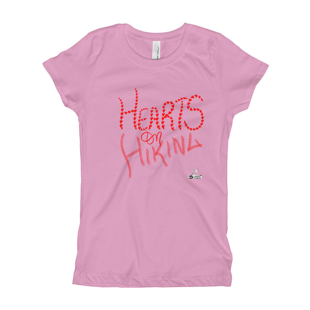 Hearts on Hiking- Girl's T-Shirt