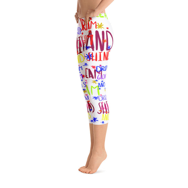 Dream Gleam & Shine- Capri Leggings