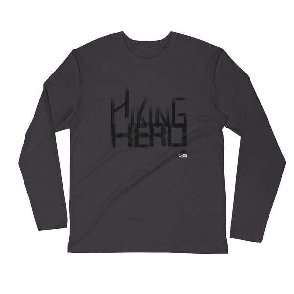 Hiking Hero- Fitted Crew- Black
