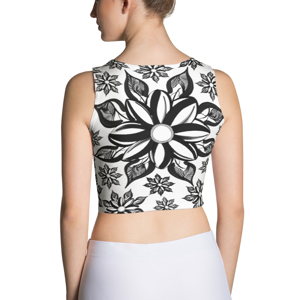 Mendhi Art Inspired - Sublimation Cut & Sew Crop Top