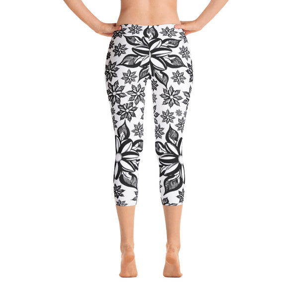 Mendhi Art Inspired Capri Leggings