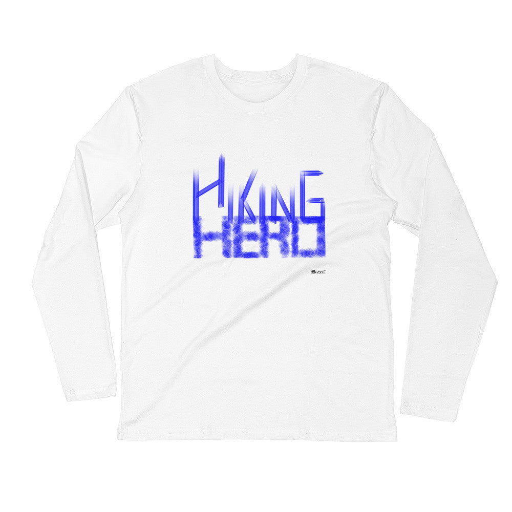 Hiking Hero- Fitted Crew- Blue