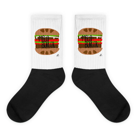 MegaBurger- Black foot socks