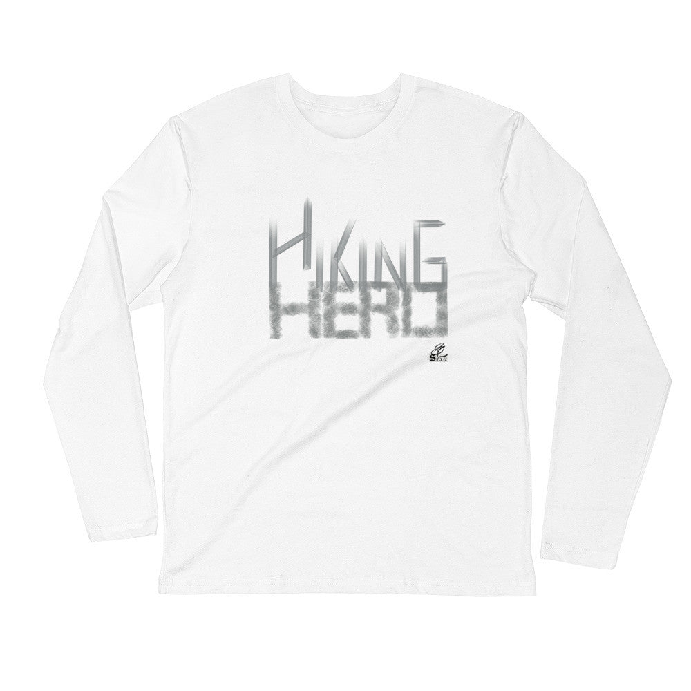 Hiking Hero- Fitted Crew- Gray