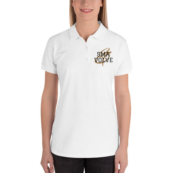 SMAVOLVE Embroidered Women's Polo Shirt
