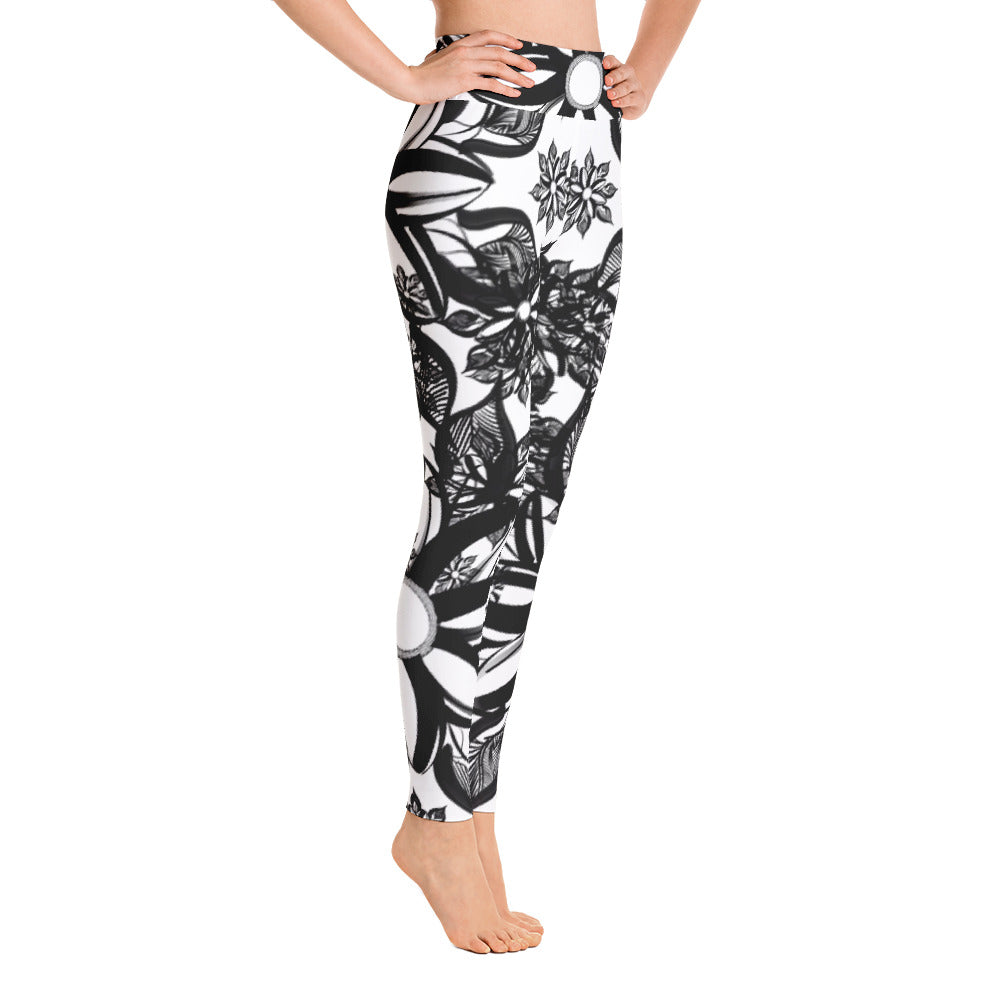 Mendhi Art Inspired Yoga Leggings