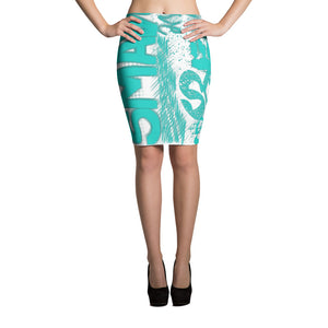 SmaVolve Graphic Pencil Skirt