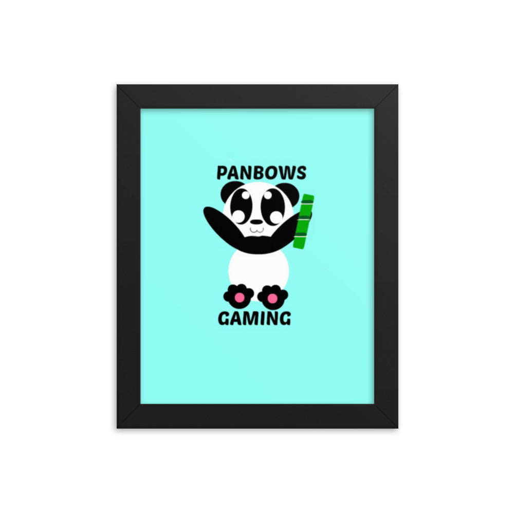 PanBowsGaming Framed photo paper poster