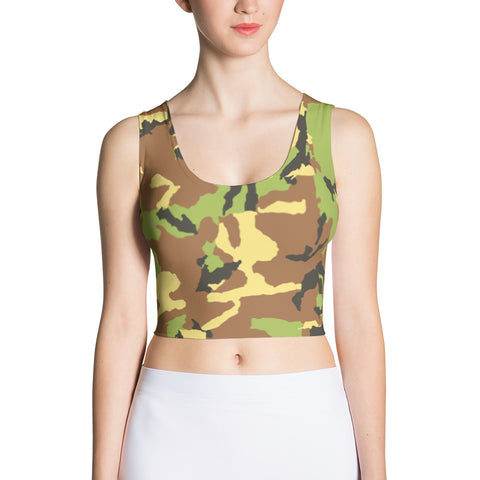 Camo Green - Sublimation Cut & Sew Crop Top