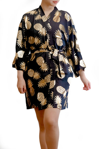 Metallic Gold Pineapple Robe