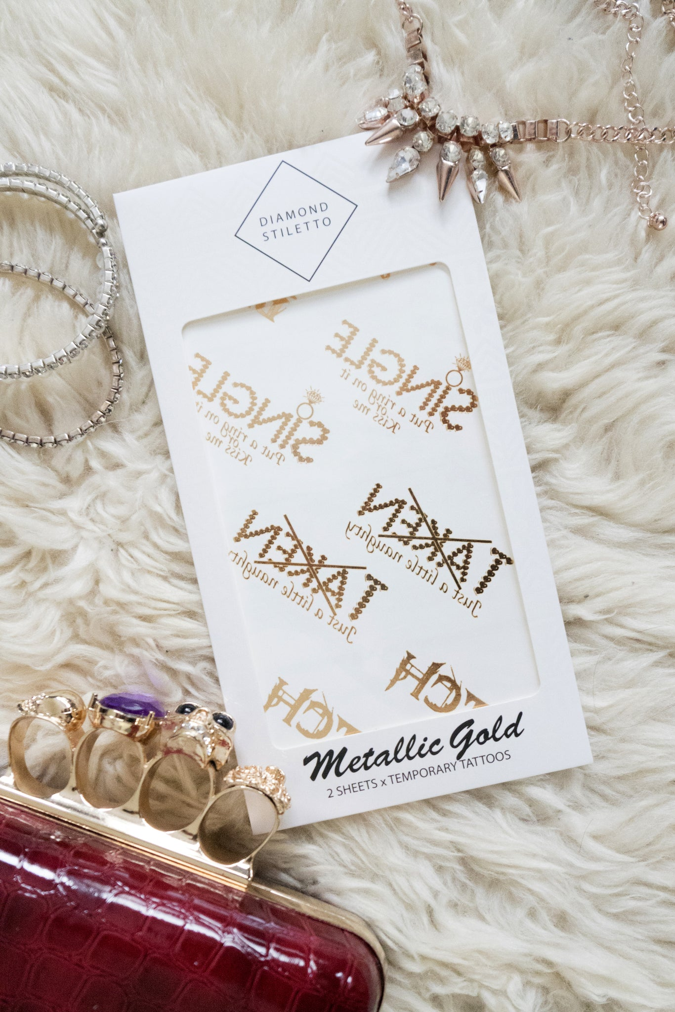 Metallic Tattoos (Naughty Bachelorette Party)