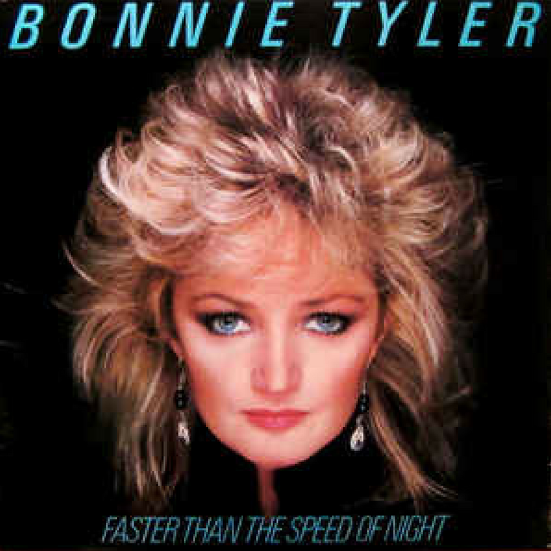 Bonnie Tyler | Faster Than The Speed Of Night (180 Gram Audiophile Black and Translucent Blue Swirl Vinyl/Gatefold Cover/Poster)