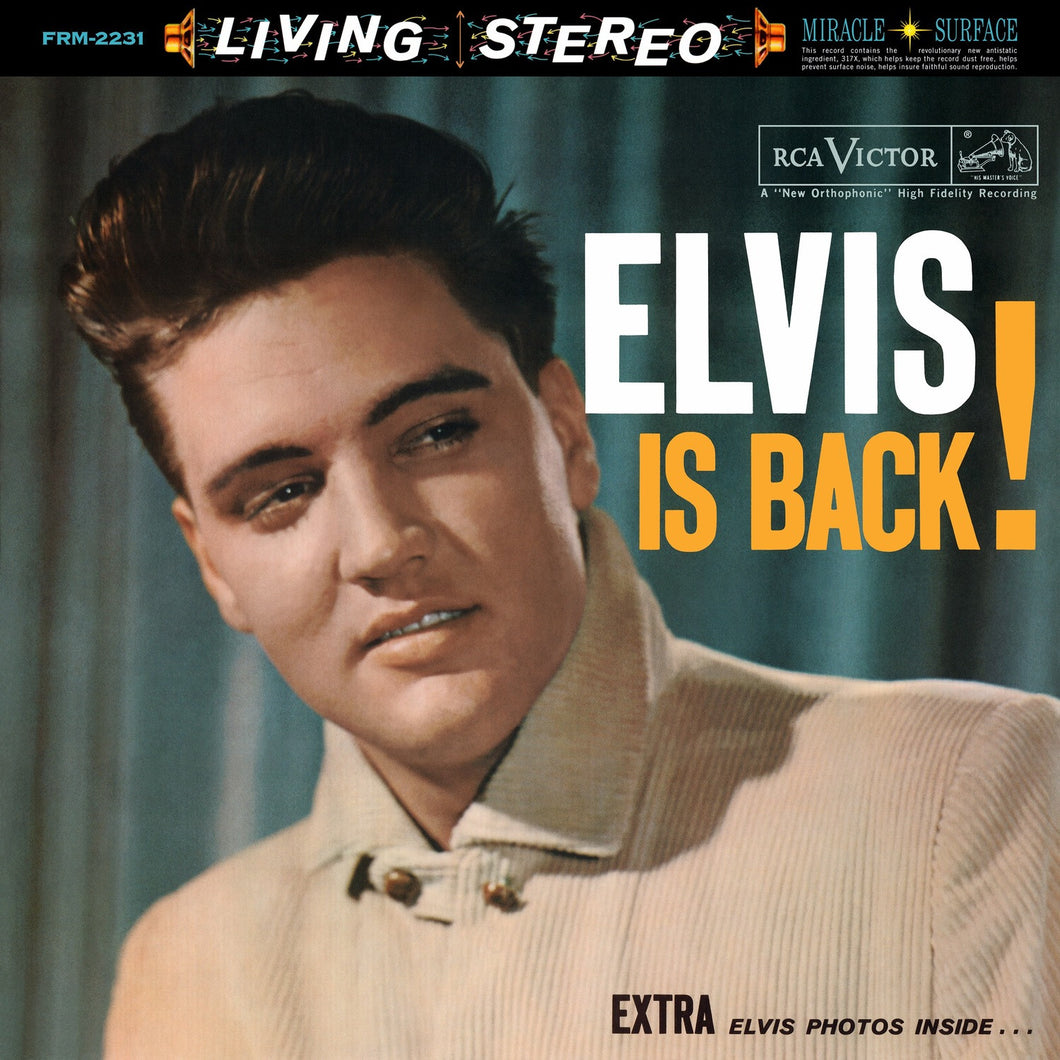 ELVIS PRESLEY | ELVIS IS BACK (180 GRAM AUDIOPHILE TRANSLUCENT BLUE VINYL/LIMITED EDITION/GATEFOLD)