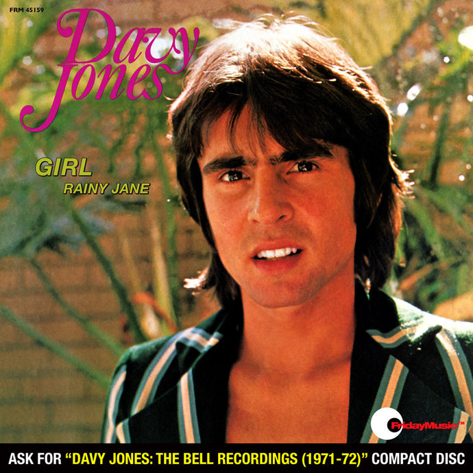 DAVY JONES | GIRL B/W RAINY JANE (45 RPM RED AUDIOPHILE VINYL/LIMITED EDITION)