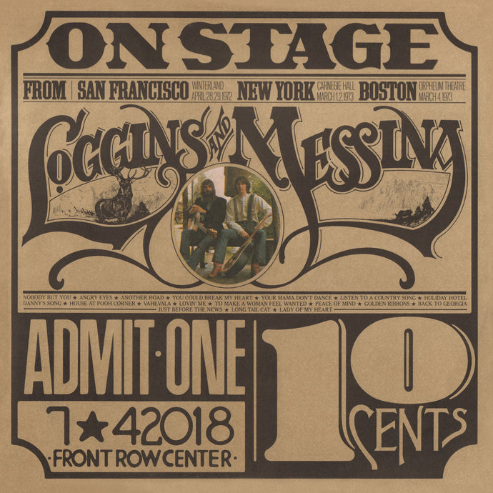 LOGGINS & MESSINA | ON STAGE 2X LP (180 Gram Translucent Gold Vinyl/Limited Anniversary Edition/Gatefold Cover & Poster)