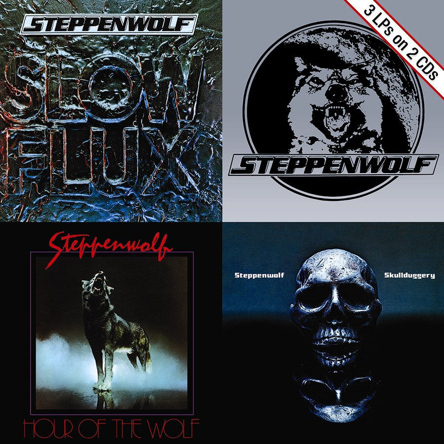 STEPPENWOLF | SLOW FLUX/HOUR OF THE WOLF/SKULLDUGGERY CD (ORIGINAL RECORDINGS REMASTERED)