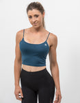 Essential Crop Top Electric Blue - ICE Cannabis Athletica