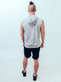 Hoodie Tank Heather Grey - ICE Cannabis Athletica