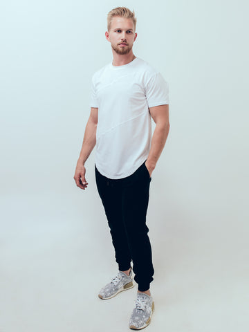 Scooped Jersey Tee Ivory White - ICE Cannabis Athletica