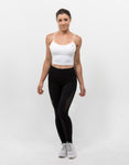 Essential Crop Top Ivory White - ICE Cannabis Athletica