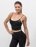 Essential Crop Top Midnight Black - ICE Cannabis Athletica