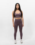 Hollow Out Leggings Mauve Purple - ICE Cannabis Athletica