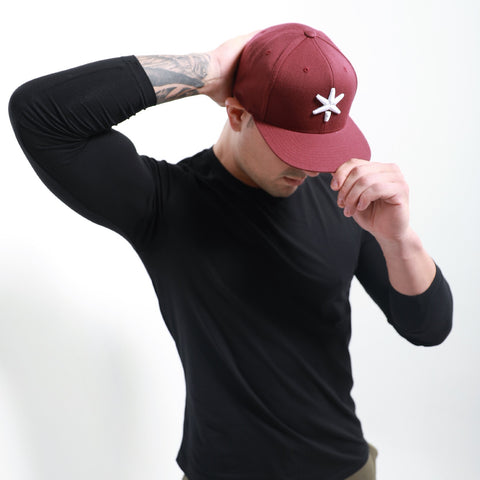 ICE Snapback Burgundy Red - ICE Cannabis Athletica