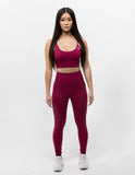Hollow Out Leggings Scarlet Red - ICE Cannabis Athletica
