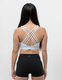 Strappy Back Sports Bra Ivory White - ICE Cannabis Athletica