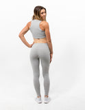 Warm-ups Crop Top Ash Grey - ICE Cannabis Athletica