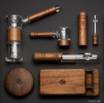 Marley Natural Glass & Walnut Bubbler - Marley Natural