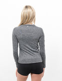 Seamless Long Sleeve Ash Grey - ICE Cannabis Athletica