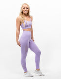 Hollow Out Leggings Lavender Purple - ICE Cannabis Athletica