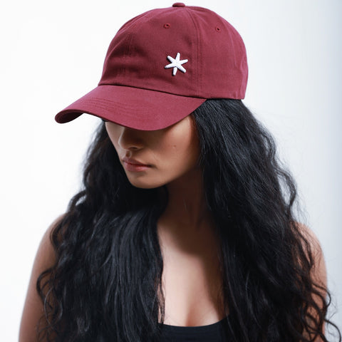 ICE Dad Hat Burgundy Red - ICE Cannabis Athletica