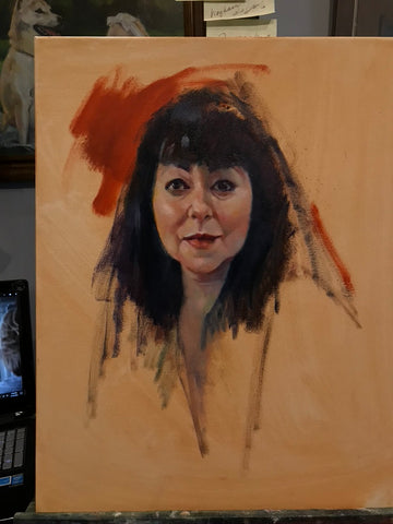 Oil Portrait Sketch