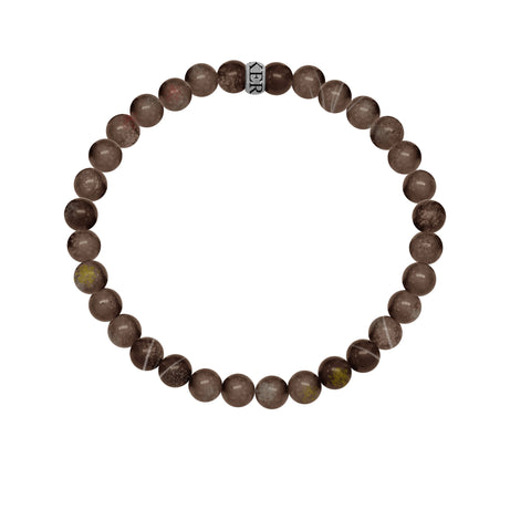 KERMAR Brown Agate Stone 6mm Bracelet (KM-0011)