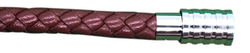 KERMAR - Medium Brown leather bracelet with Steel clasp (KM-1174)