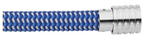 KERMAR - Blue and White Nylon Bracelet (KM-1202)