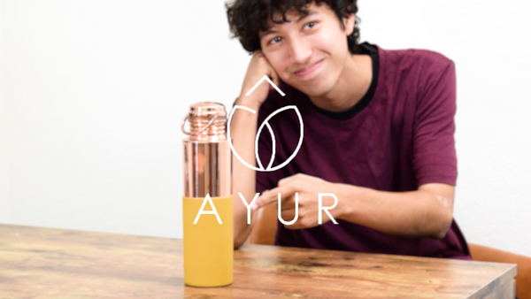 How to Apply a Silicone Sleeve to an AYUR Copper Water Bottle
