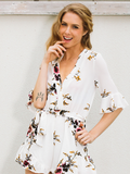 Emily's Exotic Floral Romper