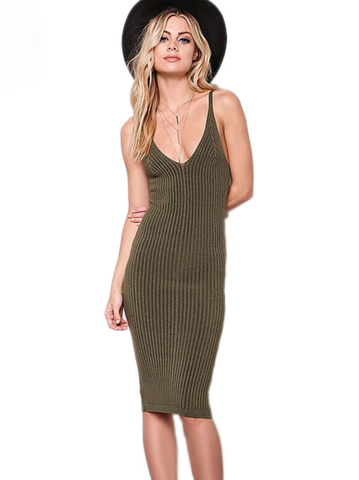 Amanda's Spaghetti Strap Pencil Dress