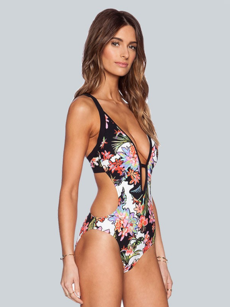 The Beach Day Floral Bodysuit