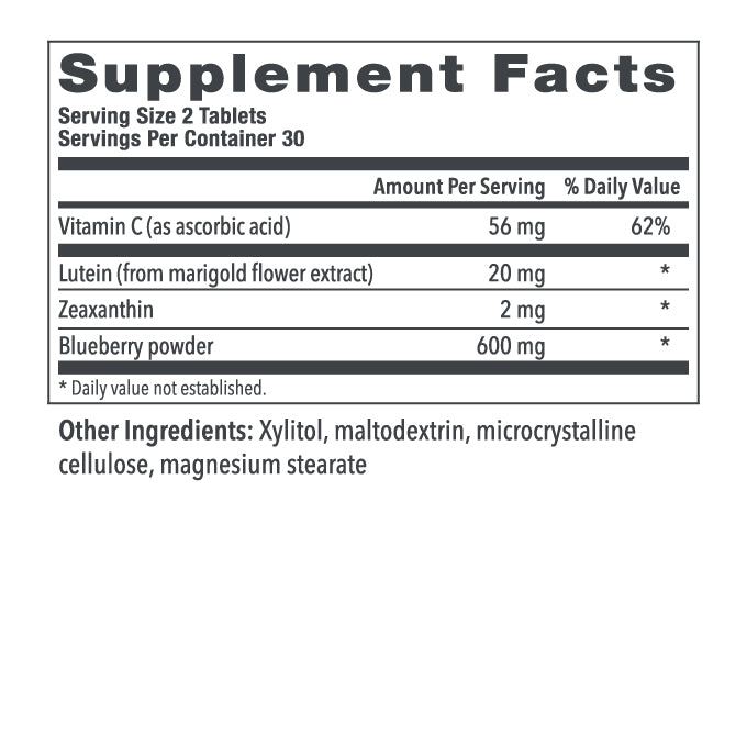 Chewable Lutein + Vitamin C Ingredients
