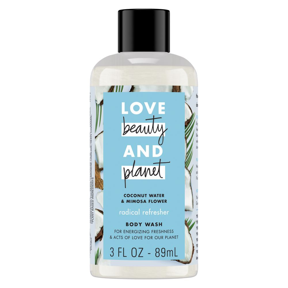 Travel Size Coconut Water & Mimosa Flower Body Wash by Love Beauty And Planet