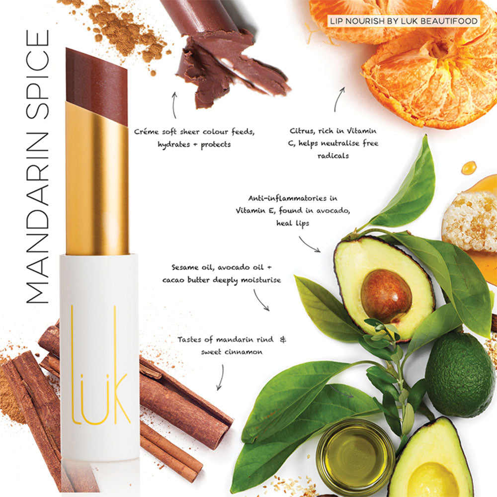 Mandarin Spice Lip Nourish by Lük Beautifood