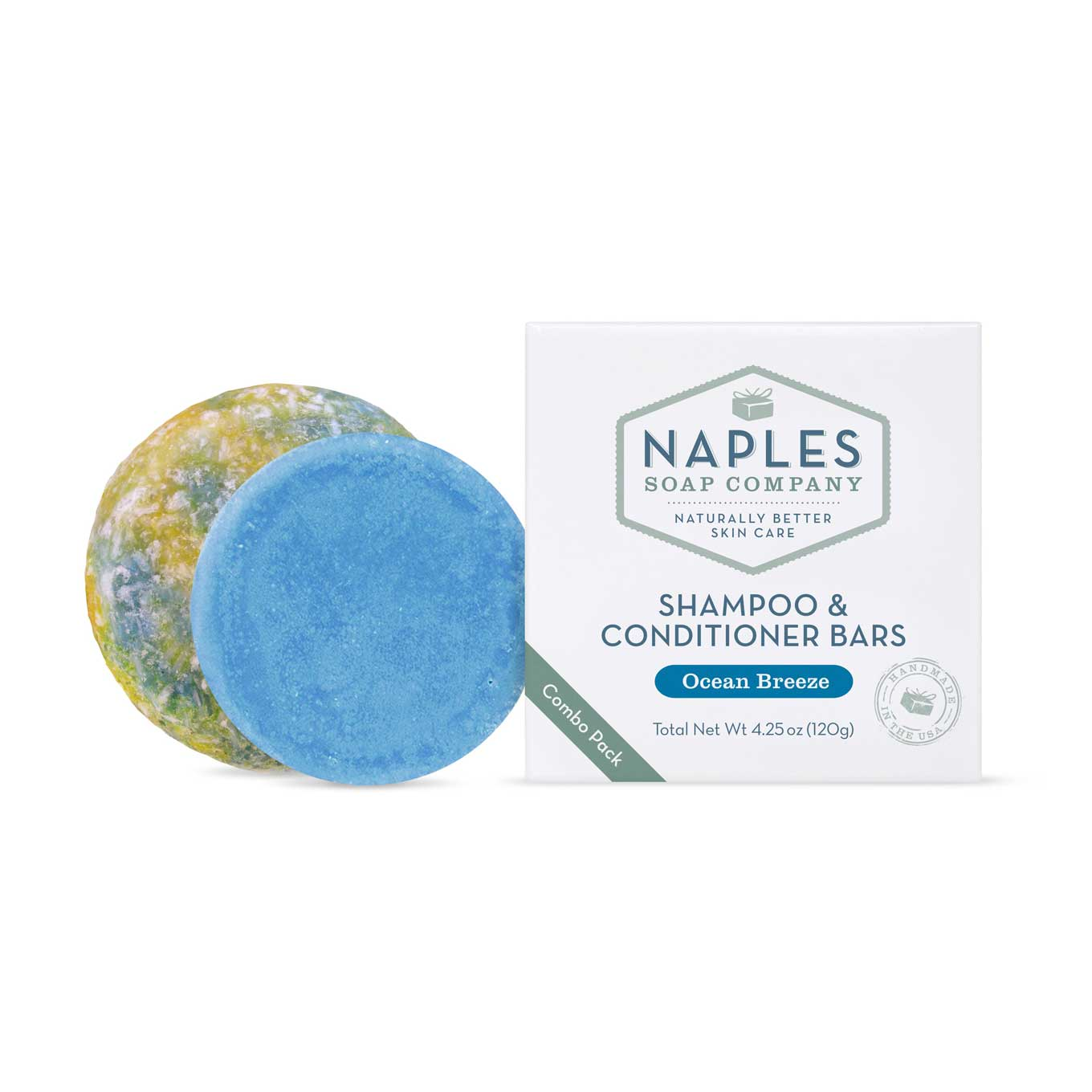 Ocean Breeze Shampoo & Conditioner Bars by Naples Soap Company